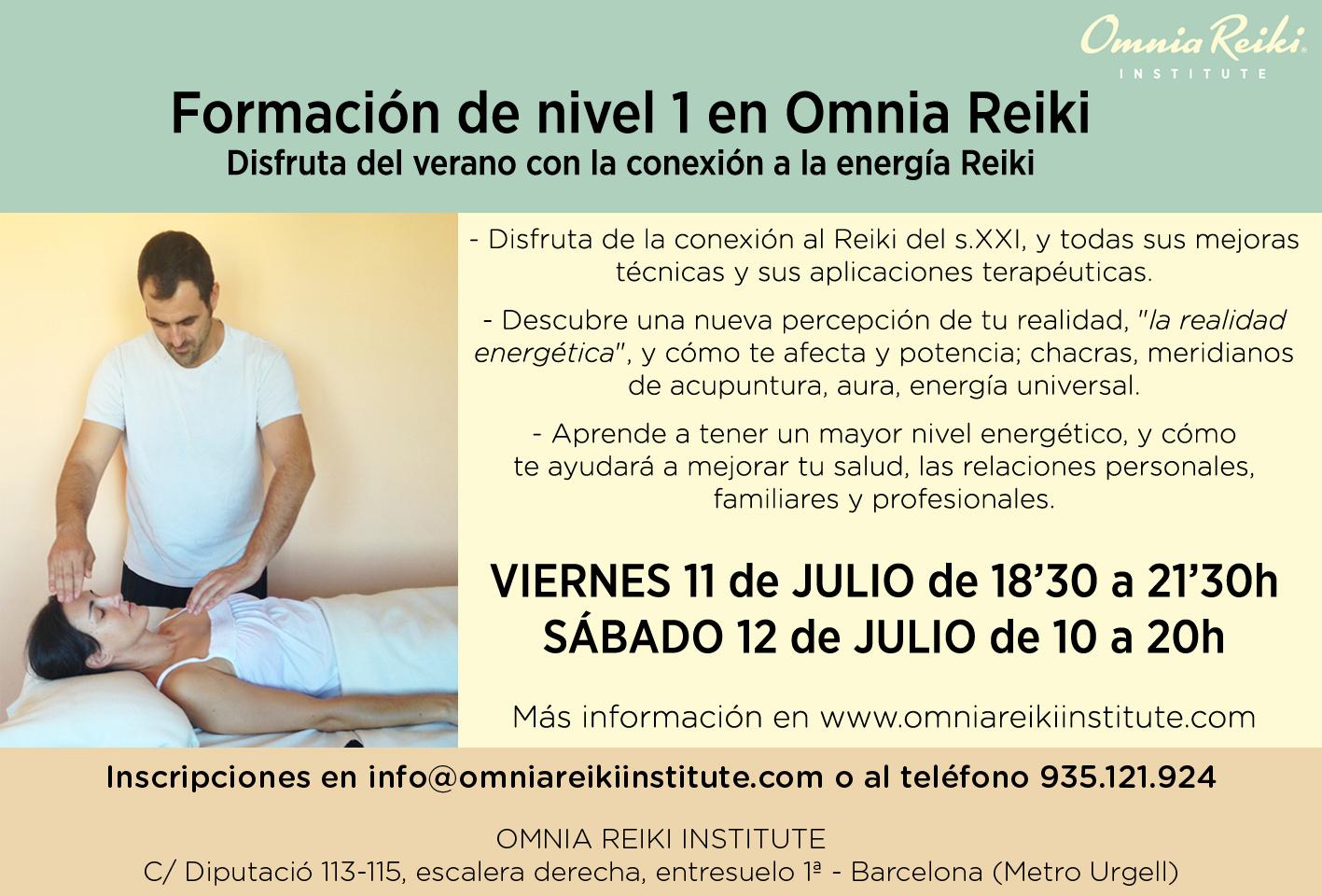nivel 1 Omnia Reiki
