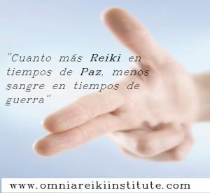 cuanto más reiki en tiempos de paz